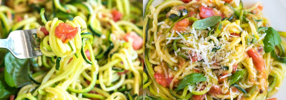 Аphrodisiacs: Сурова паста от тиквички с босилек и домати