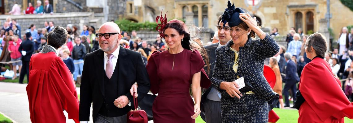 Деми Мур на кралската сватба на Южени & Джак