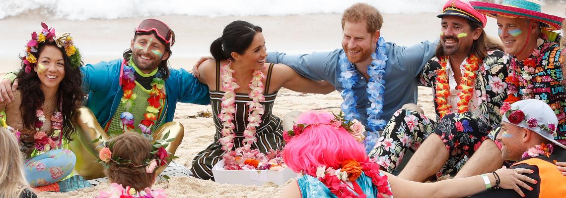 Chic on the beach: Меган и плажната й рокля