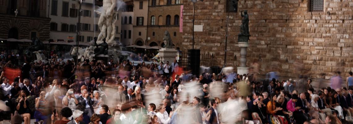 Ferragamo, парад на мечтите на Piazza della Signoria