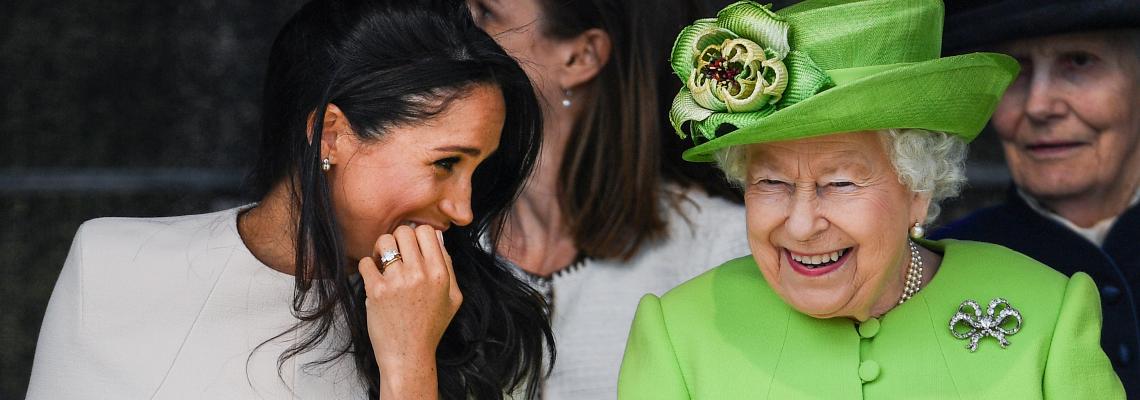 Меган празнува рожден ден с кралицата