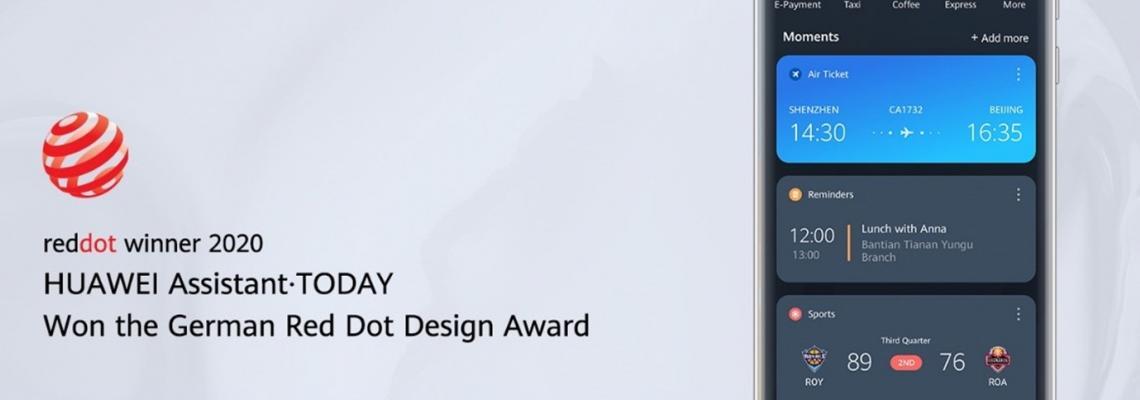 HUAWEI Assistant - TODAY получи световно известната награда за дизайн