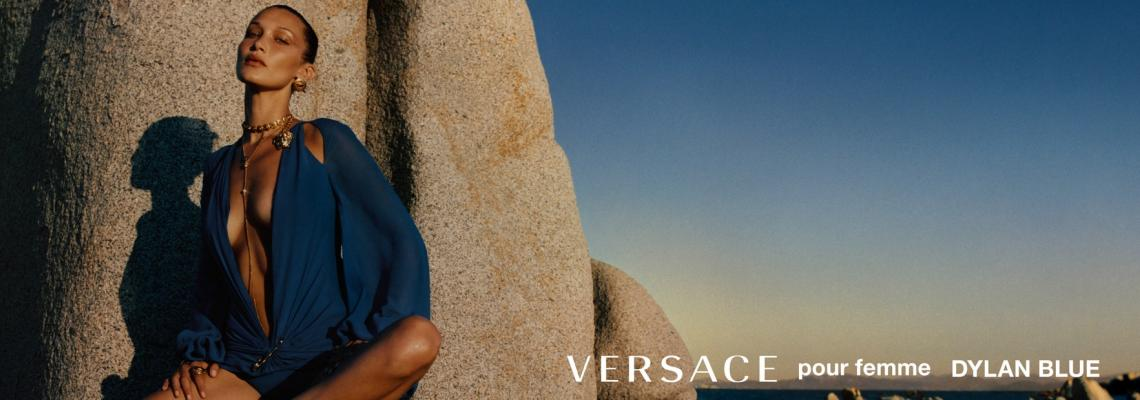 Бела Хадид и Хайли Бийбър, целунати от слънцето, за новата серия аромати от Versace