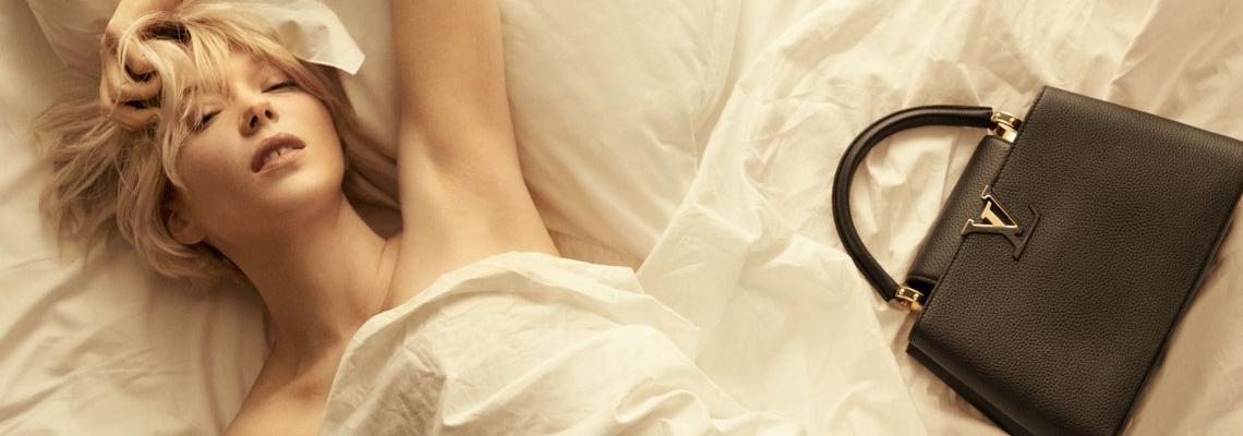 Кой как избра да се рекламира: Леа Сейду за Capucines bag на Луи Вютон