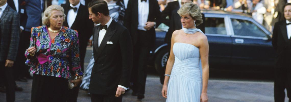 Приказката за синята рокля от шифон на лейди Даяна в Кан