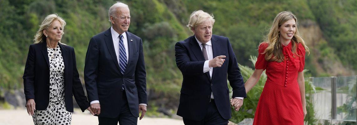 Първата дама с послание: Джил Байдън избра специално сако за срещата с Борис Джонсън и съпруга