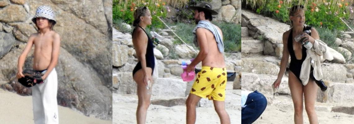 Ваканцията на известните: Кейт Хъдсън с гаджето и двете деца в Гърция