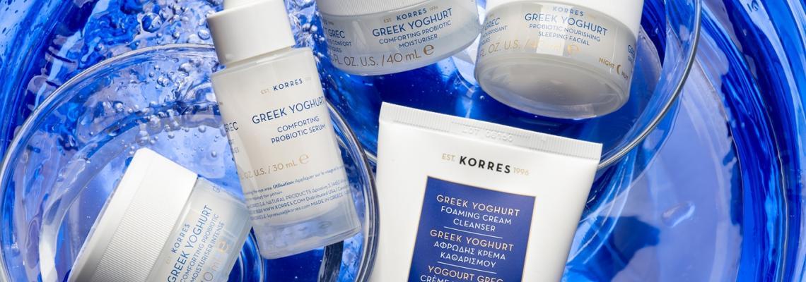 Моята комфортна пробиотична гръцка козметика: Greek Yoghurt by KORRES