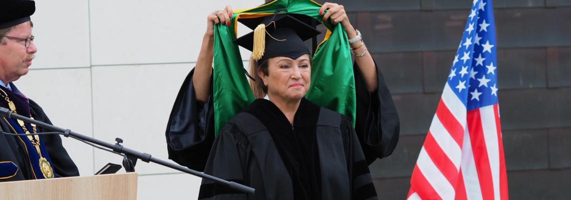 """Американският университет награди д-р Кристалина Георгиева с почетното звание """"Доктор хонорис кауза"""""""