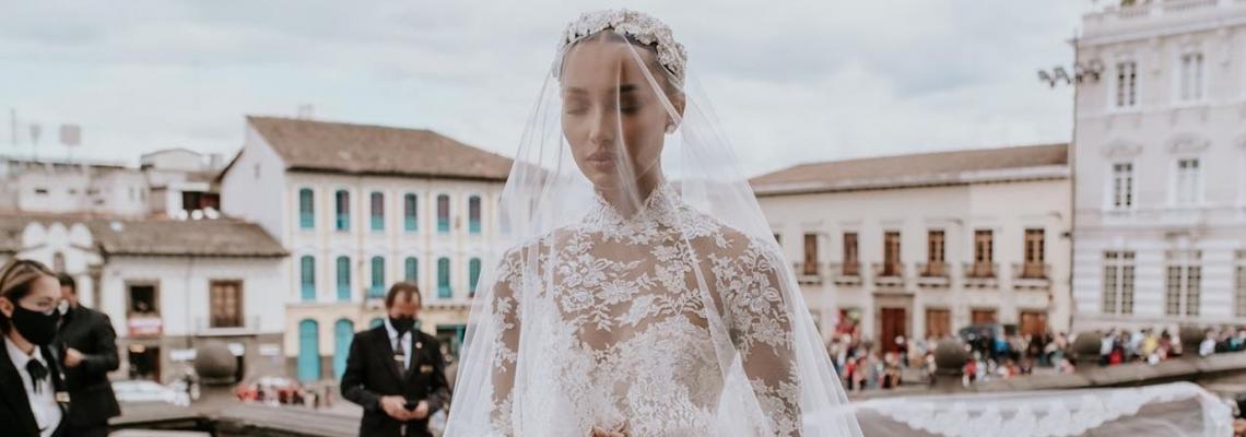 Булката-бонбон: Джасмин Тукс и роклята й Zuhair Murad
