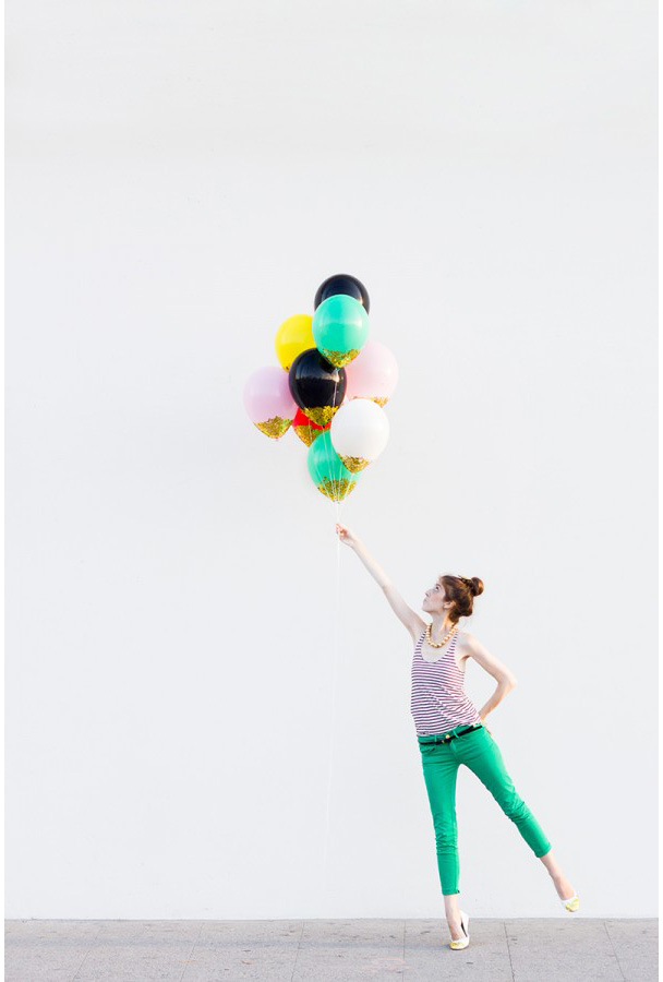 for Confetti dipped balloons