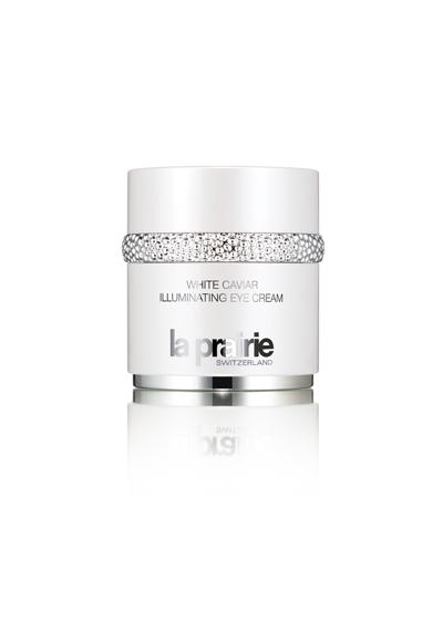 Крем за очи от луксозната хайверена колекция на La PrairieWhite Caviar Illuminating Eye Cream използва селектирани технологии, за да се съсредоточи върху едно много специфично предизвикателство – тъмните кръгове в околоочната зона, причинени от пигментация и нарушения в обмяната под очите, като се таргетират натрупванията на меланин и клетъчни остатъци (известни също като липофусцин). Околоочният крем стимулира циркулацията в горните нива на кожата, за да помогне за просветляване на тъмните кръгове под очите и да облекчи задържането на течности, за да намали подпухването. White Caviar Illuminating Eye Cream стяга кожата, хидратира и предпазва от бъдещи щети с помощта на мощни анти-оксиданти.От La Prairie, препоръчителна цена 422 лв.