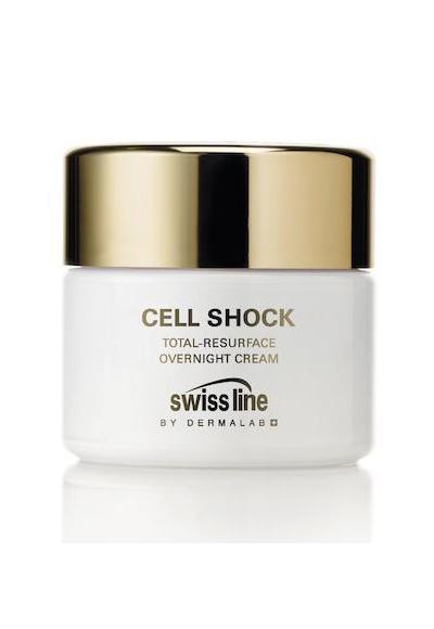 Cell Shock на Swiss LineПурпурен, бързо разтворим гел балсам против стареене, който спомага за възстановяване стегнатостта и гъвкавостта на кожата през нощта. Съдържа биотехнологични съставки, получени от растителни екстракти за насърчаване на клетъчното обновяване. Зареден е със Селактел 2 - комплекс за стимулиране на колаген и еластин и ускоряване на метаболизма. След продължително нанасяне подмладяващият продукт на Swiss Line разкрива една по-здрава, по-ярка и здрава на вид кожа, а сред другите му силни предимства е това, че е подходящ за всеки тип кожа (с изключение на много мазната).На преференциална цена: 189 лв.