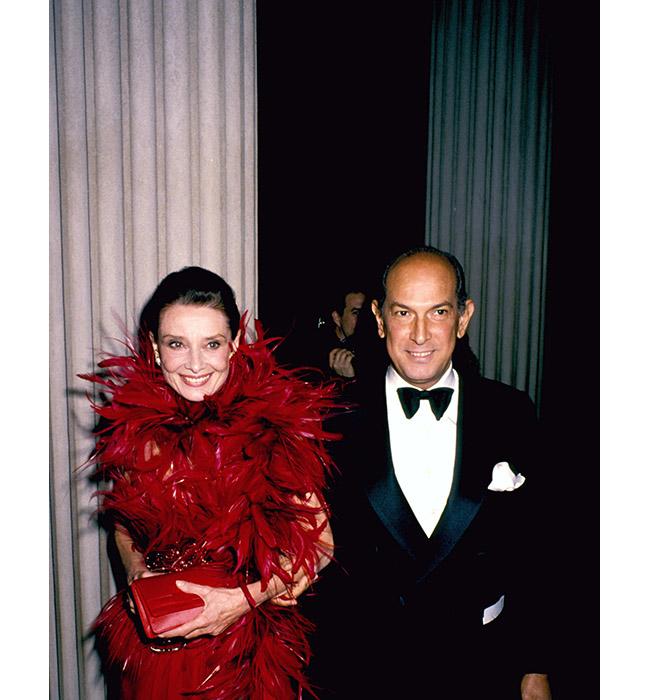 Одри Хепбърн и Оскар де ла Рента, 1988