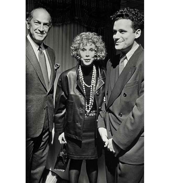 Оскар де ла Рента, Джоан Ривърс, и Исак Мизрахи, 1990