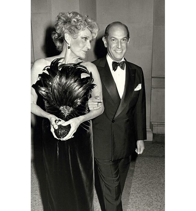 Пат Бъкли и Оскар де ла Рента, 1987
