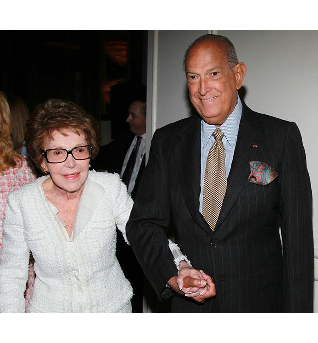 Нанси Рейгън и Оскар де ла Рента, 2011