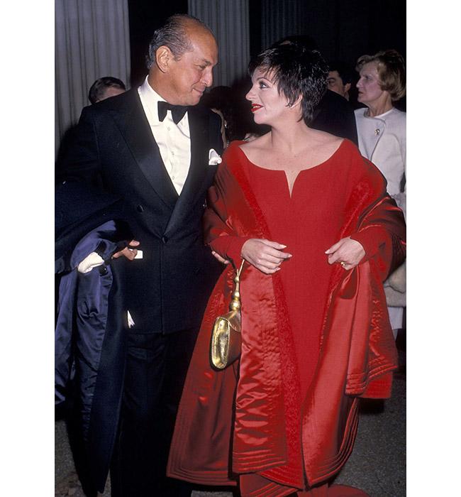 Оскар де ла Рента и Лайза Минели, 1989