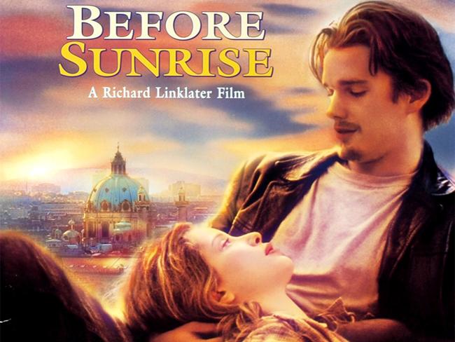 Before Sunrise 1995 Невероятна трилогия! Първият филм разказва за вчерашните непознати, които днес са неразделни сродни души. Но трябва да се разделят след няколко часа. Джес и Селин броят всеки един миг, като се стремят да получат максимално от живота във времето преди изгрев.