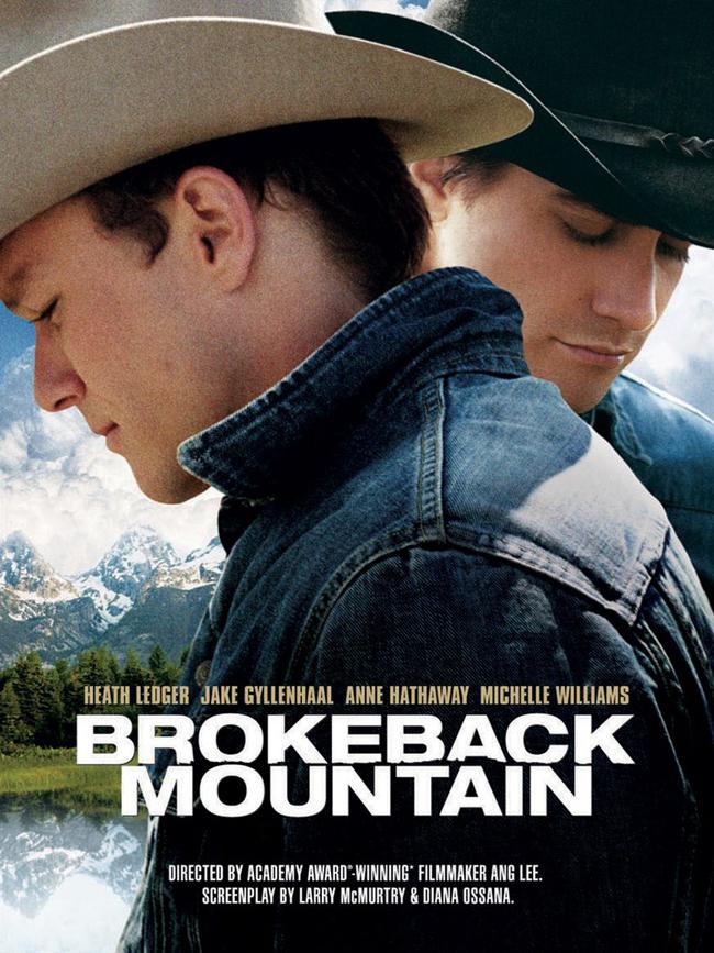 Brokeback Mountain, 2005 Филмът разказва историята на двама млади мъже – работник в ранчо и родео каубой, които се срещат през лятото на 1963 и неочаквано създават връзка за цял живот. През една ранна утрин в Сигнал, Уайоминг, Енис Дел Мар и Джак Туист се срещат на опашката за назначаване на работа при местния фермер Джо Агуайър. Светът, в който Енис и Джак са родени, се променя с бърза скорост и едновременно с това се развива едва-едва. Двамата млади мъже изглеждат сигурни в отредените им на този свят роли – да получат сигурна работа, да се оженят и отгледат семейство. И все пак копнеят за нещо, което е отвъд онова, което могат да изрекат. Когато Агуайър ги изпраща да работят като овчари във величествената планина Броукбек, те са привлечени от приятелството и после по-дълбоката близост.