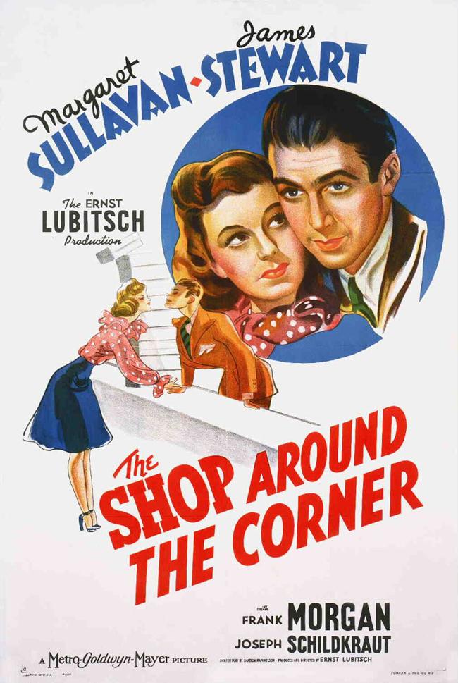 """The Shop Around The Corner, 1940 """"Магазинът зад ъгъла"""" може да се върнете много години назад и да съпреживеете приятни мигове в компанията на Маргарет Съливан, Джеймс Стюарт и един невероятен магазин за подаръци. Може да си припомните и римейка с Том Ханкс и Мег Райън """"Имате поща"""", където магазинът за подаръци беше заменено с книжарница."""