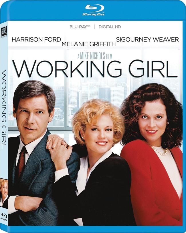 Working Girl, 1988 Тес Макгил е разочарована секретарка, борейки се да продължи напред в света на големия бизнес в Ню Йорк. Тя получава своя шанс, когато шефът й чупи крака си на ски почивка. Макгил се възползва от отсъствието му, за да даде тласък на кариерата си. Тя се съюзява с инвестиционния посредник Джак и работят по една голяма сделка. Ситуацията се усложнява след неочакваното завръщане на нейния шеф.