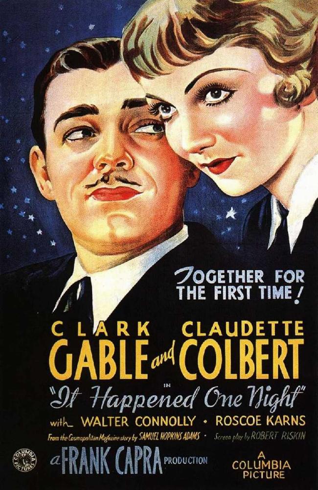 It Happened one night, 1934 Когато богатото момиче Ели Андрюс се омъжва за жиголото Кинг Уестли, тя е отвлечена от нещастния си баща, който се надява да анулират брака на Ели. Тя успява да избяга от семейната яхта във Флорида. Докато бяга, се сблъсква с Питър Уорн - наскоро уволнен журналист, който се съгласява да й помогне да отиде в Ню Йорк, в замяна на нейната история. Двамата се влюбват един в друг...