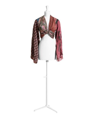 Блуза от копринени шалове,249 лв.