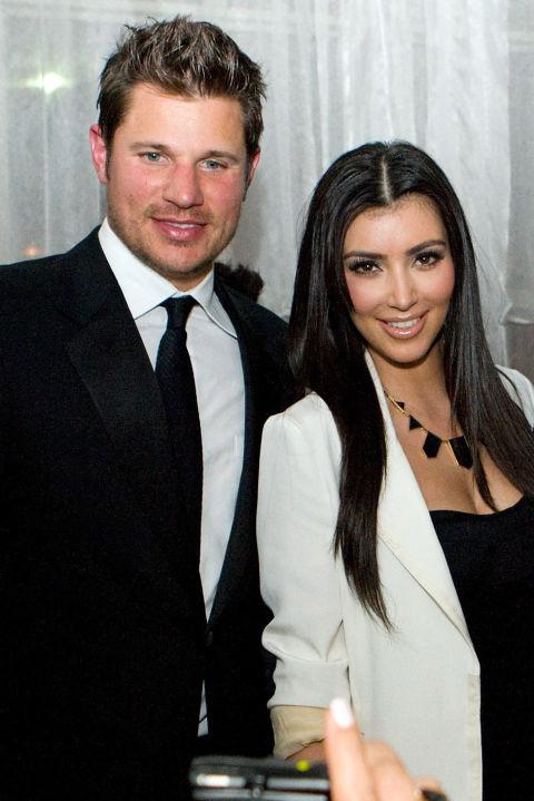 Ким Кардашян и Ник Лаше След Кенън, известната арменка си взима бившият на Джесика Симпсън - Ник Лаше, с когото са заедно за доста кратко време.