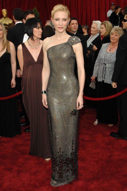 Кейт Бланшет и сребърното й видение на Armani Prive.