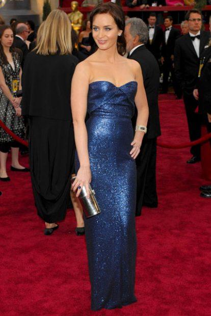 """Емили Блънт от времето, когато играеше в """"Дяволът носи Прада"""". Тук в рокля на Calvin Klein."""
