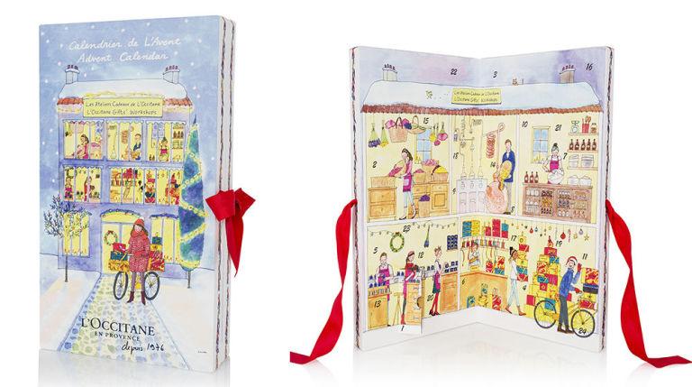 LOCCITANE 96лева Във формата на детска книжка, изобразяваща празнична жилищна сграда, календарът на Loccitane ни печели с 24 мини версии на най-добрите си и луксозни продукти.