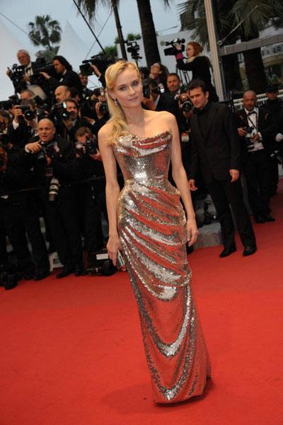 Даян Крюгер беше най-свежото попълнение в журито, а тук е прекрасна в рокля на Vivienne Westwood