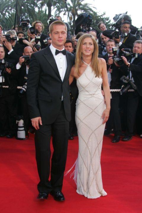 2004 Брад Пит и Дженифър Анистън в Atelier Versace