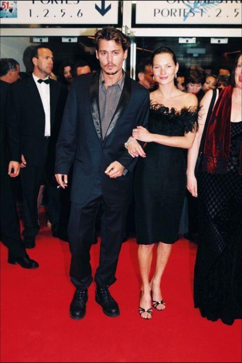 1998 Джони Деп и Кейт Мос