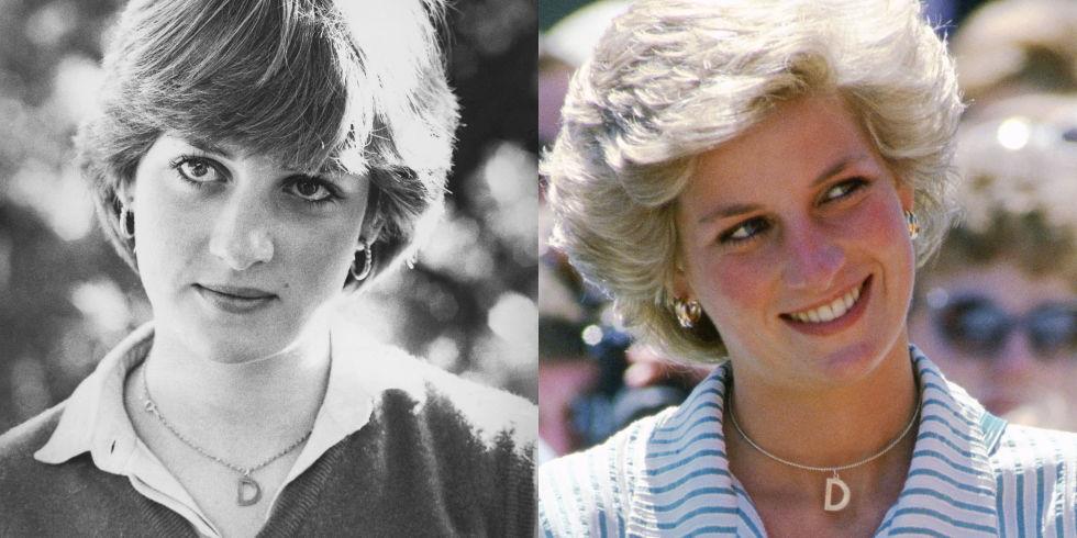 """Колие с инициал Кари Брадшоу със сигурност не е първата, която популяризира този аксесоар. За първи път Даяна е видяна с това колие през 1980г. преди сватбата си с принц Чарлз. След като става част от кралското семейство, инициалът й """"D"""" се превръща в диамантено бижу, което се появява отново на поло мач през 1985г."""