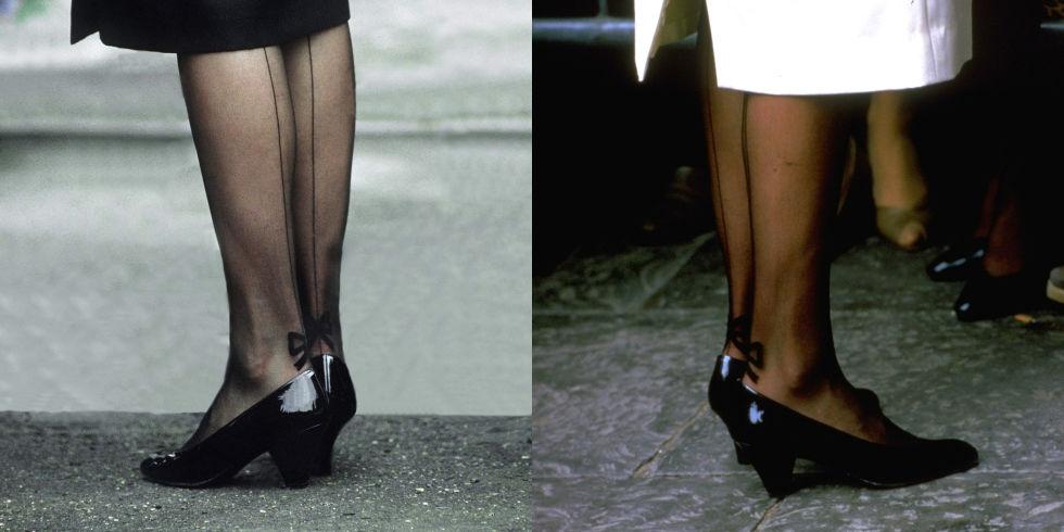 Upgrade на чорапогащници Даяна усъвършенствала консервативната кралска мода, като добавила лек пиперлив акцент към своите костюми. На множество събития е забелязвана със семпла, елегантна пола, под която се откроявали чорапогащници с изящни бродерии на глезена, от които околните определено настръхвали.