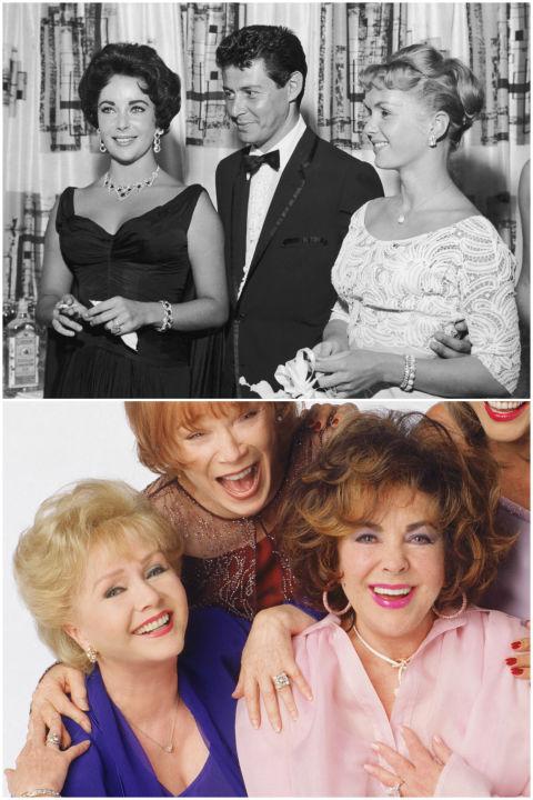 Деби Рейнолдс и Елизабет Тейлър С две думи съпругът на Рейнолдс - Еди Фишър, я зарязва, за да афишира връзката си с Елизабет, която остава вдовица след като половинката й Майк Тод загива в самолетна катастрофа. По онова време това предизвика сериозен скандал, но пък години по-късно Деби прощава на колежката си и двете дори работят по един проект - These Old Broads.