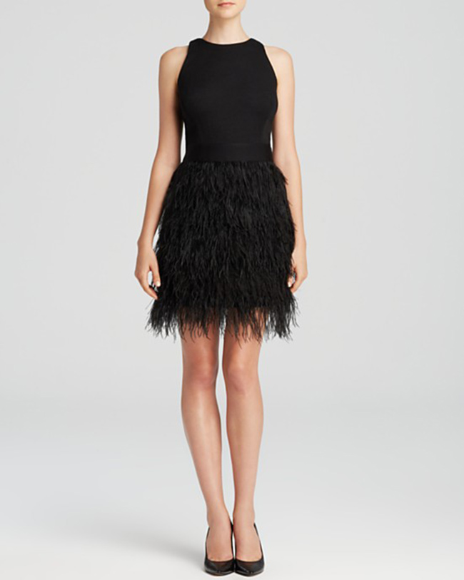 MILLY Dress - Blair Feather 1 160 лева bloomingdales.com