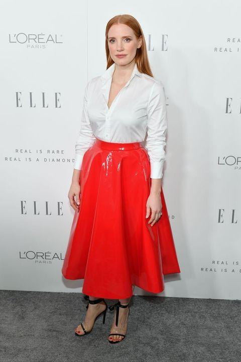 Джесика Частейн в Calvin Klein