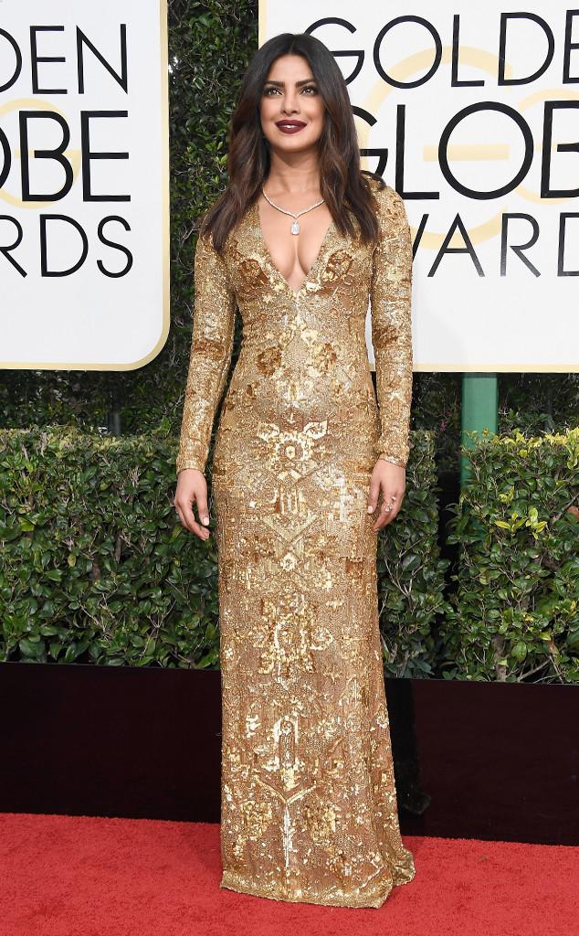 Индийската перла Приянка Чопра се появи изцяло в златно, но честно казано модните критици очакваха много повече от нея.