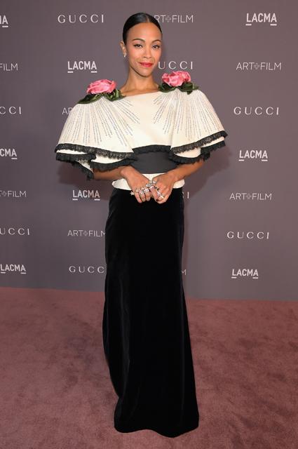Зоуи Салдана в Gucci