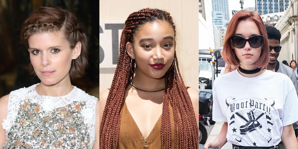 """Terra Cotta Red Червеното на сезона е далеч от типичния джинджър цвят. Вместо това, момичета като Амандла Стенбърг и Сара Снайдер се насочват към теракота със сини подтонове и оттенъци. Ако цветът е """"твърде"""" за вашето настроение, опитайте по-достъпна версия на Кейт Мара в хладно кестеняво."""