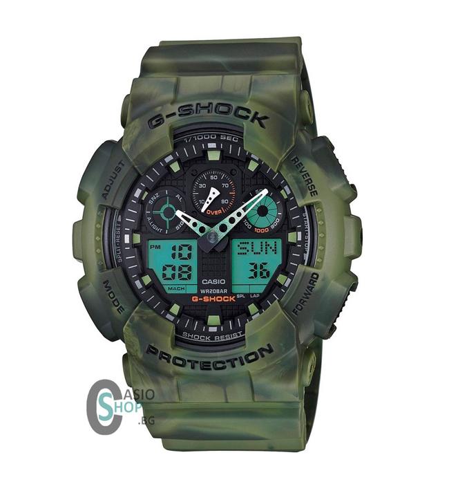 Камуфлажен G-Shock Casio, понеже тайно си мечтаем да го откраднем, когато му писне. 243 лв.  casioshop.bg