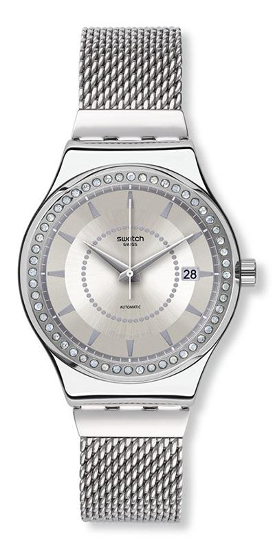 Часовник SISTEM STALAC - прецизен швейцарски автоматик за ценителите на класически дизайн, съчетан със съвременния Swatch стил. 420 лв. swatch.bg