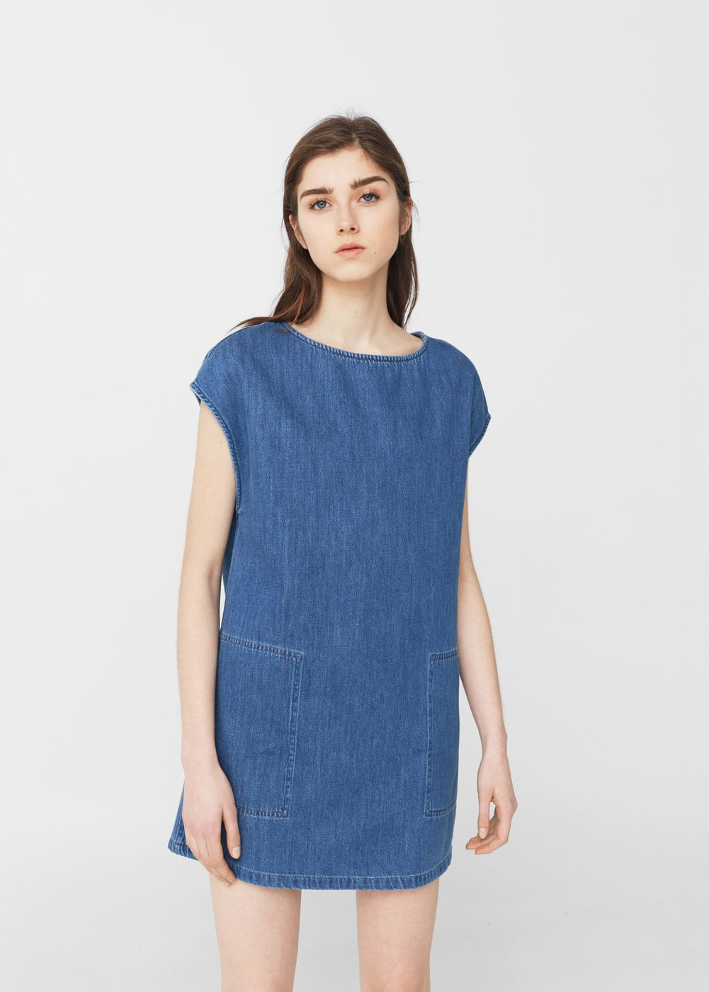 Дънкова рокля Mango; от 69,99лв на 29,99лв