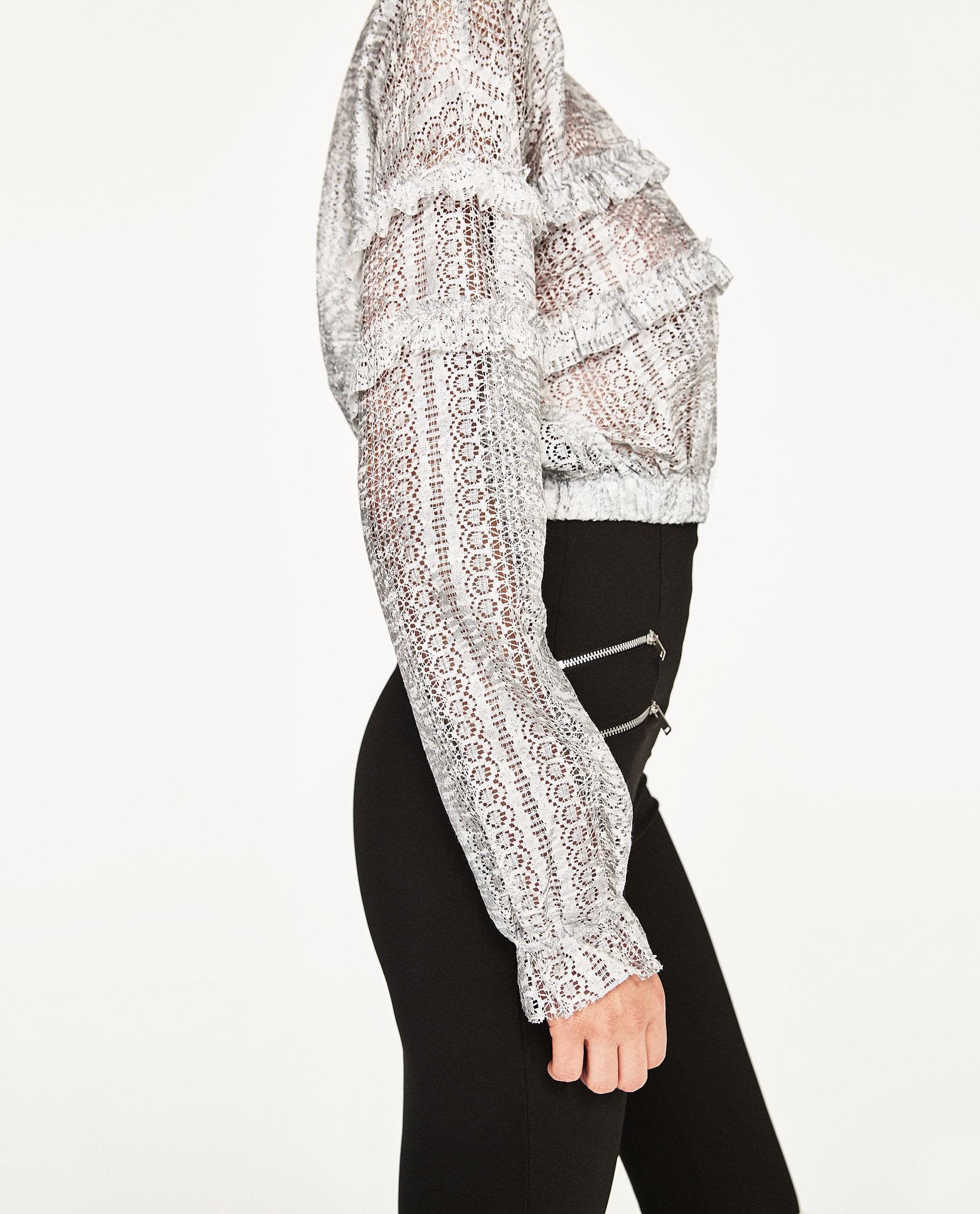 Дантелена блуза ZARA; от 35,95лв. на 19,99лв.