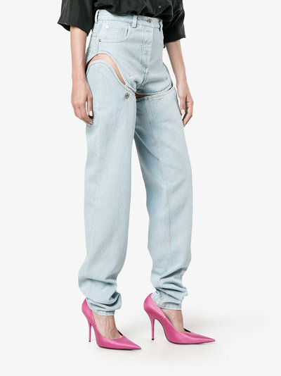 High-Waisted Convertible Jeans Y/Project