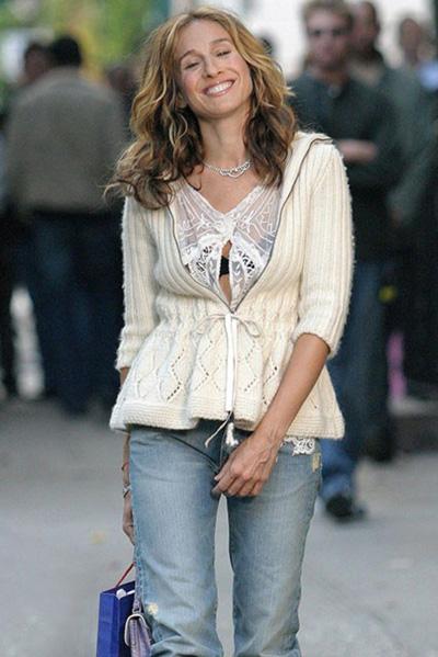 Бохемска риза с плетена жилетка е красиво, много дори.