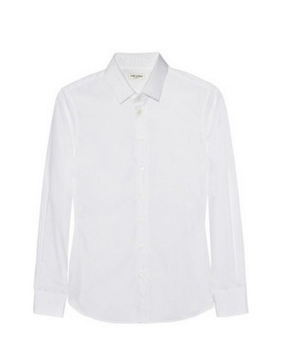 Перфектната бяла ризаЕтикетът на гърба определя всичко. Висок клас материя и кройка, с историческа стойност - все пак е сред първите модели на Еди Слиман, откакто пое дамската линия на Saint Laurent.Saint Laurent430 евроnet-a-porter.com